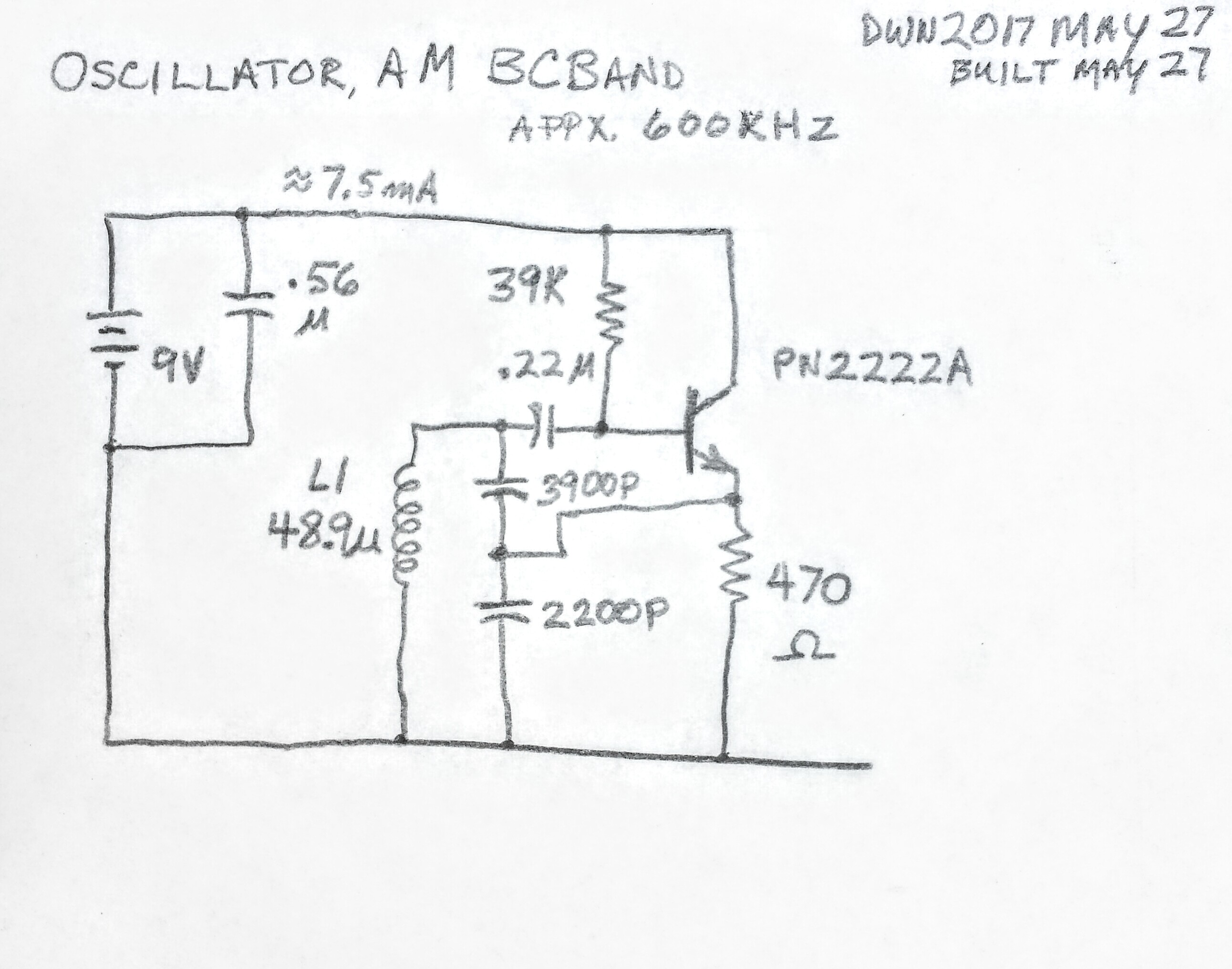Wordpress Page 20 Electronics Stuff A Lot Highgainamplifier Amplifiercircuit Circuit Diagram Seekiccom I Used 39 Nf And 22 In Series Which Gives 1407 Pf This The 49 Uh Coil Resonate At About 600 Khz On Lower End Of Am Broadcast Band